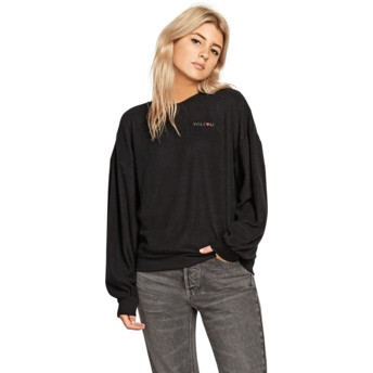 Volcom Black Fleece Pleaze Black Sweatshirt