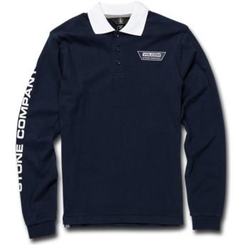 Volcom Youth Navy Belmont Navy Blue Long Sleeve Polo