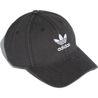 Adidas Curved Brim Washed Adicolor Black Adjustable Cap