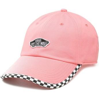 Vans Curved Brim Check It Pink Adjustable Cap