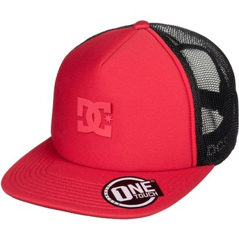 DC Shoes Greet Up Red Trucker Hat