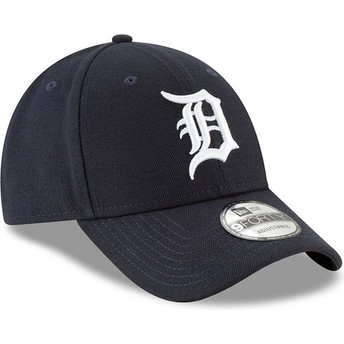 New Era Curved Brim 9FORTY The League Detroit Tigers MLB Navy Blue Adjustable Cap