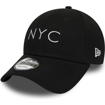 New Era Curved Brim 9FORTY Essential NYC Black Adjustable Cap