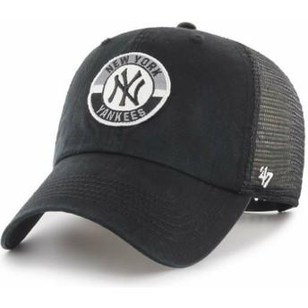 47 Brand Clean Up Porter New York Yankees MLB Black Trucker Hat