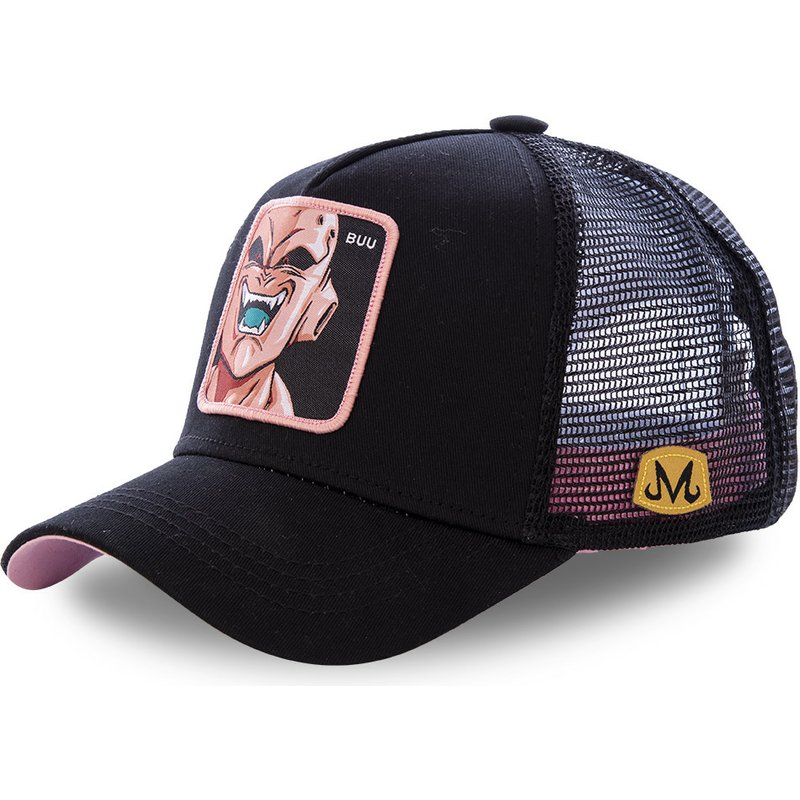 capslab-kid-buu-buu-dragon-ball-black-trucker-hat
