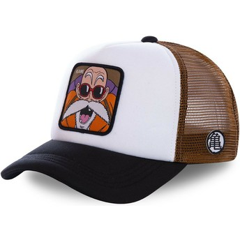 Capslab Master Roshi KAM3M Dragon Ball White, Brown and Black Trucker Hat