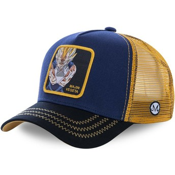 Capslab Majin Vegeta MV1 Dragon Ball Navy Blue and Yellow Trucker Hat
