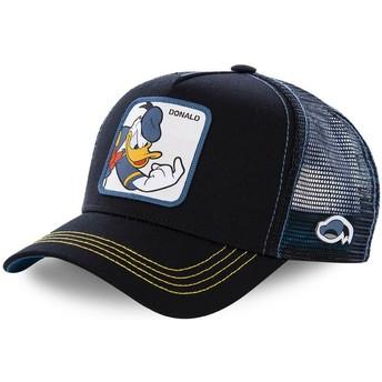 Capslab Donald Duck DON2 Disney Black Trucker Hat