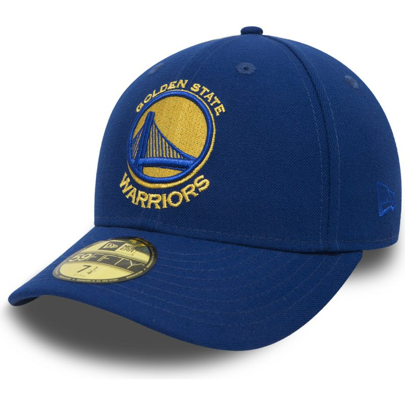 new-era-flat-brim-59fifty-low-profile-classic-golden-state-warriors-nba-blue-fitted-cap