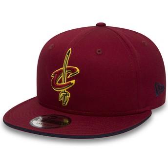 New Era Flat Brim 9FIFTY Team Cleveland Cavaliers NBA Red Snapback Cap