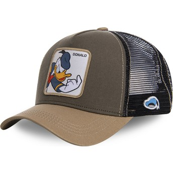 Capslab Donald Duck DON1 Disney Brown Trucker Hat