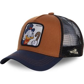 Capslab Scrooge McDuck SCR1 Disney Brown and Navy Blue Trucker Hat