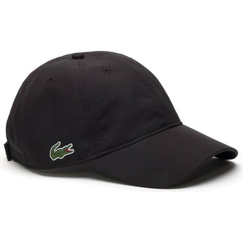Lacoste Curved Brim Basic Dry Fit Black Adjustable Cap