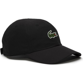 Lacoste Curved Brim Croc Microfibre Black Adjustable Cap