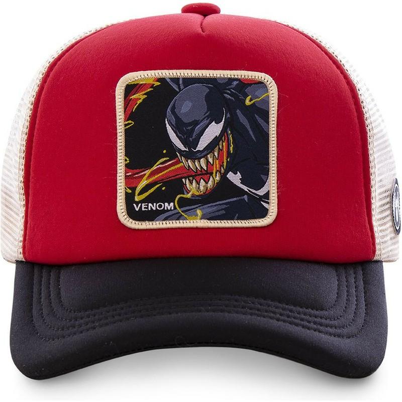 4758c5c8af06 Gorra trucker roja, blanca y negra Venom VEN4M Marvel Comics de Capslab