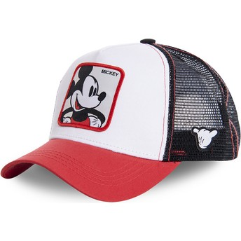 Capslab Mickey Mouse MIC4 Disney White, Black and Red Trucker Hat