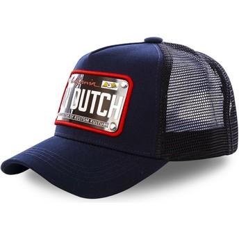 Von Dutch California Plate CAL2 Navy Blue Trucker Hat