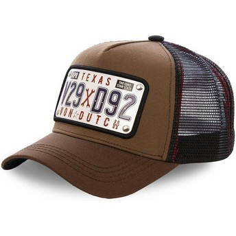 Von Dutch Texas Plate TEX1 Brown Trucker Hat