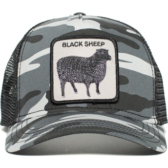 Goorin Bros. Sheep Naughty Lamb Camouflage and Black Trucker Hat
