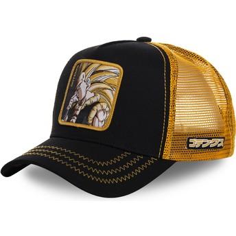 Capslab Gotenks Super Saiyan 3 GOT2 Dragon Ball Black and Yellow Trucker Hat