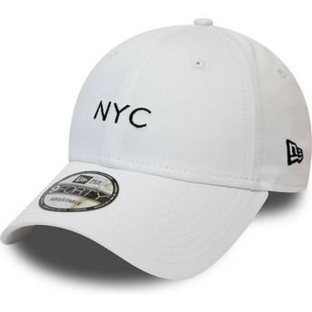 New Era Curved Brim 9FORTY Seasonal NYC White Adjustable Cap