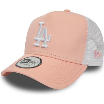 New Era League Essential A Frame Los Angeles Dodgers MLB Pink Trucker Hat