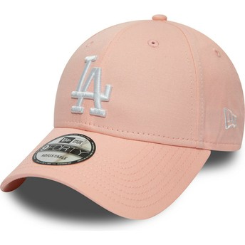 New Era Curved Brim 9FORTY League Essential Los Angeles Dodgers MLB Pink Adjustable Cap