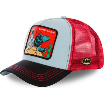 Capslab Batman & Robin MEM1 DC Comics Blue and Red Trucker Hat