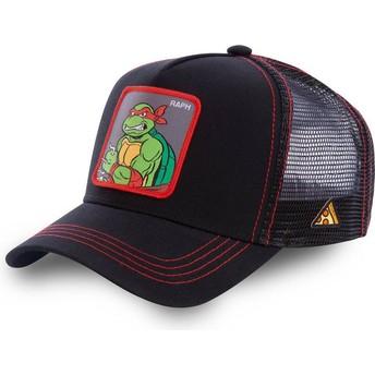 Capslab Raphael RAP Teenage Mutant Ninja Turtles Black Trucker Hat