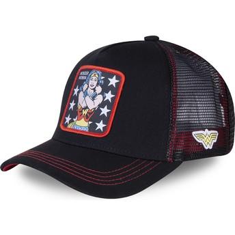 Capslab Wonder Woman WON2 DC Comics Black Trucker Hat