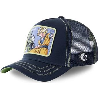 Capslab Cell Vs Goku GAM1 Dragon Ball Navy Blue Trucker Hat