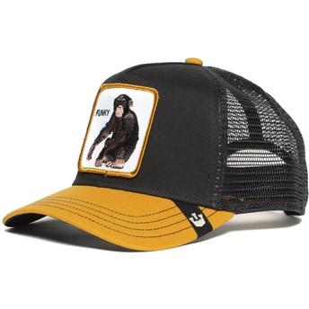 Goorin Bros. Monkey Banana Shake Black and Yellow Trucker Hat