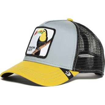 Goorin Bros. Toucan Iggy Narnar Grey and Yellow Trucker Hat