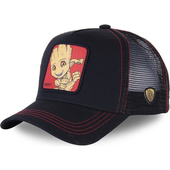 Capslab Baby Groot BGR3 Marvel Comics Black Trucker Hat