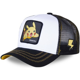 Capslab Pikachu PIK5 Pokémon White and Black Trucker Hat