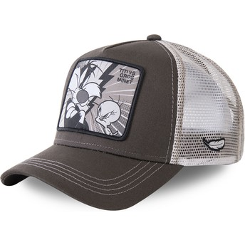 Capslab Sylvester Vs Tweety TVG2 Looney Tunes Grey Trucker Hat
