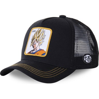 Capslab Son Goku Super Saiyan GO4 Dragon Ball Black Trucker Hat