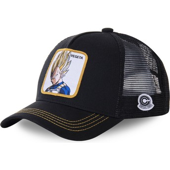 Capslab Vegeta Super Saiyan VE4 Dragon Ball Black Trucker Hat