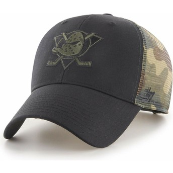 47 Brand MVP Back Switch Anaheim Ducks NHL Black and Camouflage Trucker Hat