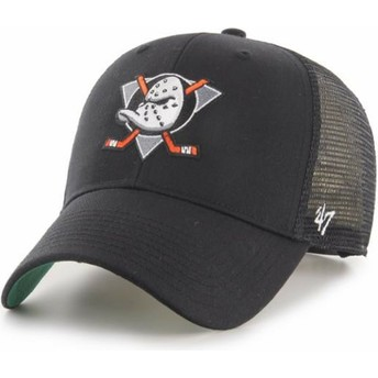 47 Brand MVP Branson Anaheim Ducks NHL Black Trucker Hat