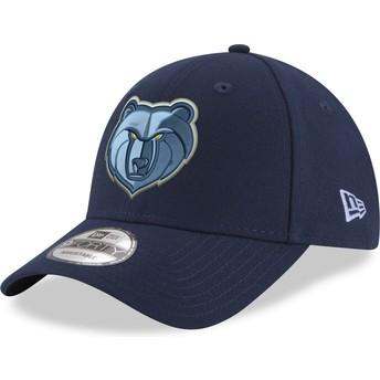 New Era Curved Brim 9FORTY The League Memphis Grizzlies NBA Blue Adjustable Cap