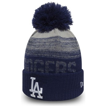 New Era Cuff Knit Sport Los Angeles Dodgers MLB Blue Beanie with Pompom
