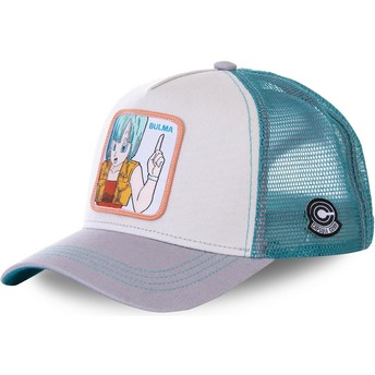 Capslab Bulma BUL1 Dragon Ball White, Blue and Grey Trucker Hat