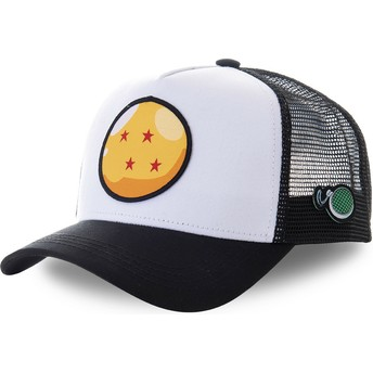 Capslab Four-Star Dragon Ball CRI2 Dragon Ball White and Black Trucker Hat