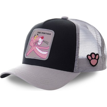 Capslab Pink Panther PANT4 Black and Grey Trucker Hat