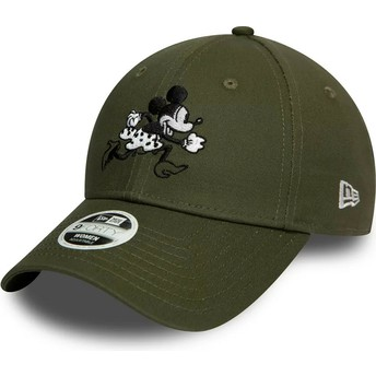 New Era Curved Brim 9FORTY Minnie Mouse Disney Green Adjustable Cap