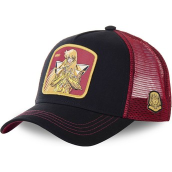 Capslab Virgo VIR Saint Seiya: Knights of the Zodiac Black and Red Trucker Hat