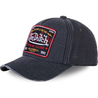 Von Dutch Curved Brim JAKA Grey Adjustable Cap