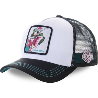 Capslab Andromeda Shun AND2 Saint Seiya: Knights of the Zodiac White and Black Trucker Hat