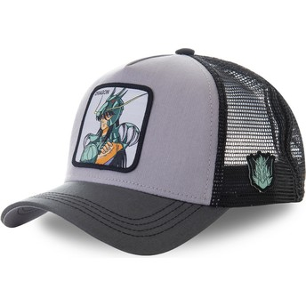 Capslab Dragon Shiryū DRA1 Saint Seiya: Knights of the Zodiac Grey Trucker Hat